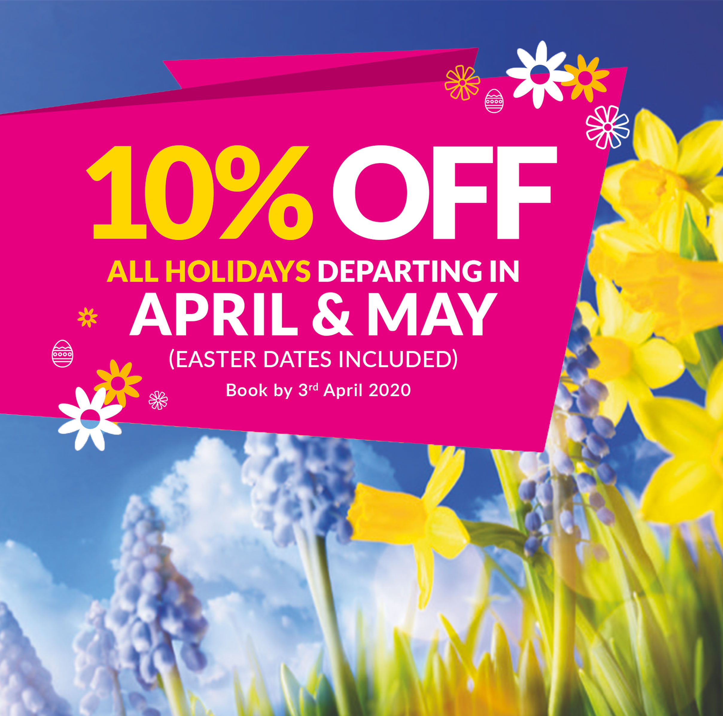 10% off April & May