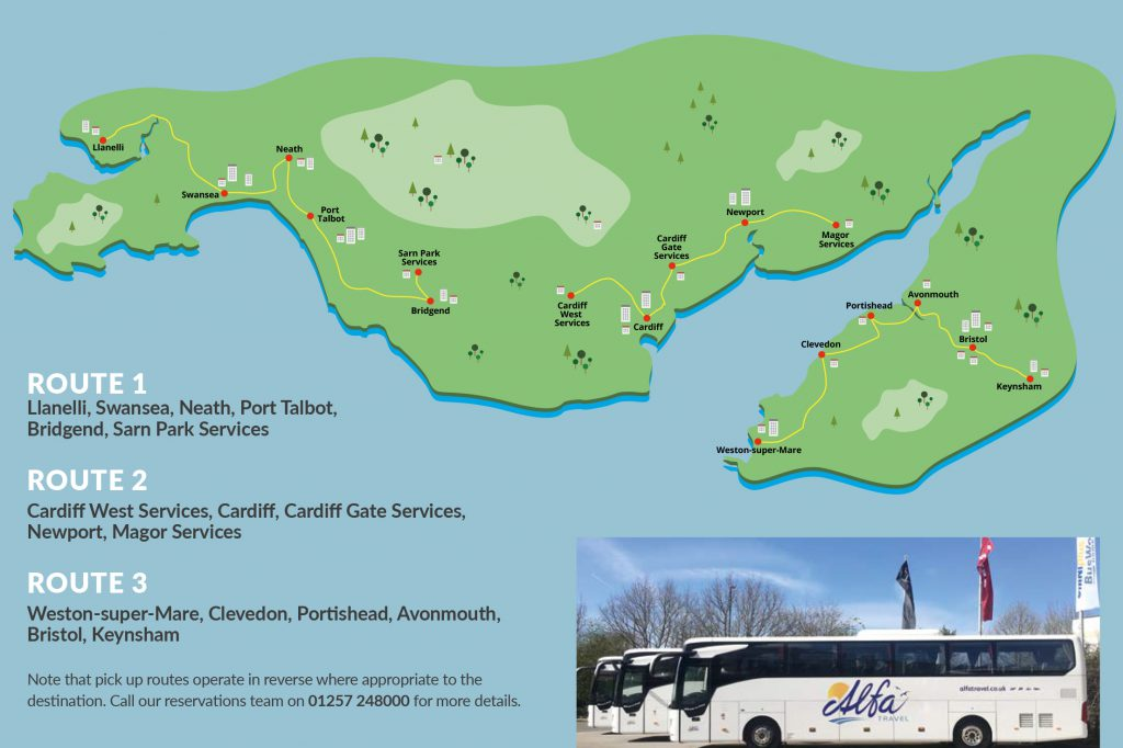 route for south wales coach holiday