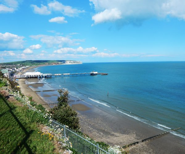 Sandown view from coastal path